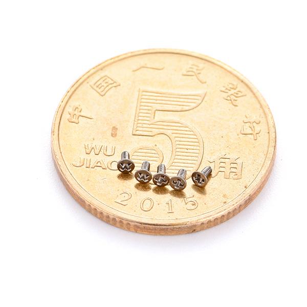 不锈钢沉头十字M0.8微型螺丝