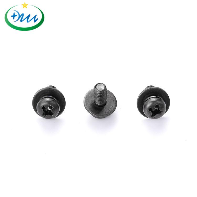 盘头十字碳钢黑锌弹平垫组合螺丝 2