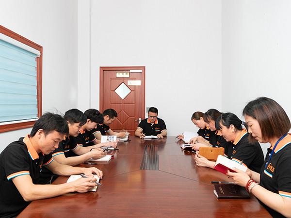 铭泽精密生产部会议